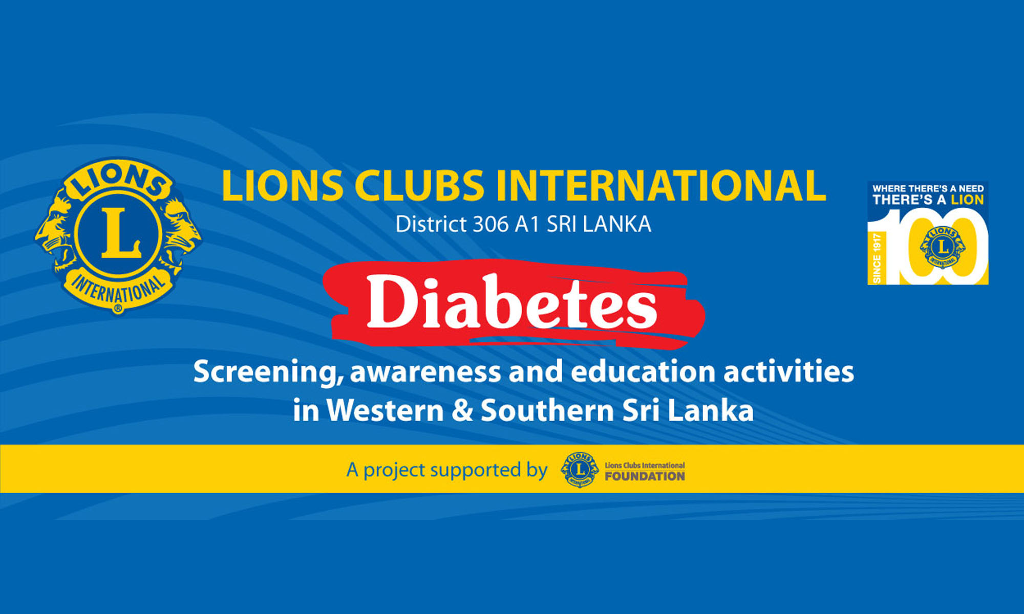 Diabetes – A project supported by Lions Clubs International